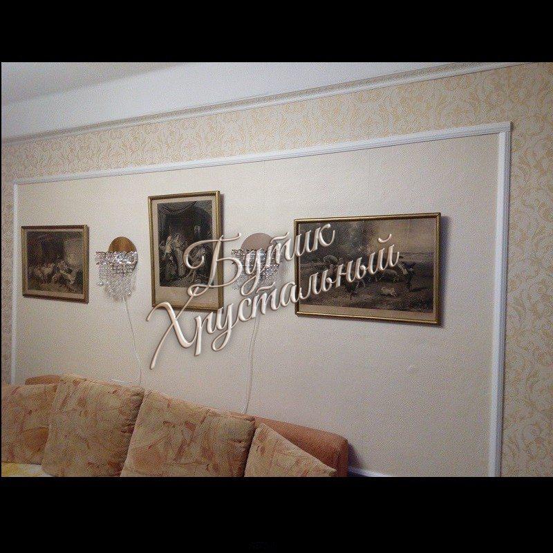 Хрустальная настенная «Бра Качели»