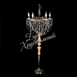 Торшер 5 свечей Бронза Оникс