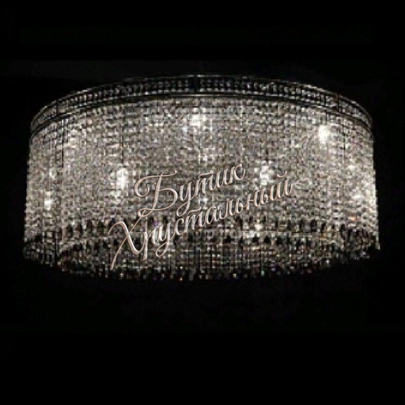 """Хрустальная, большая люстра  Латунь - 06"""" Asfour Crystal"""