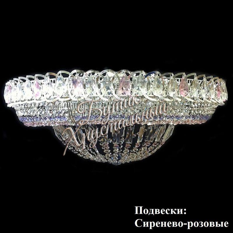 """Хрустальная люстра """"Кольцо Купол"""" с зеркалом"""