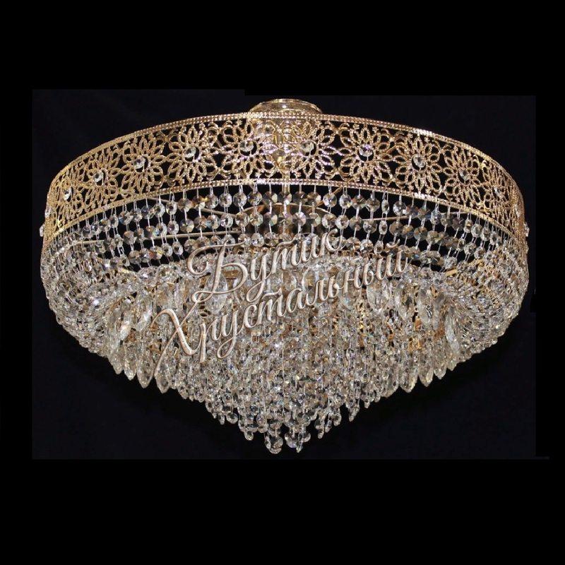 Хрустальная подвесная  люстра «Версаль на ножке»
