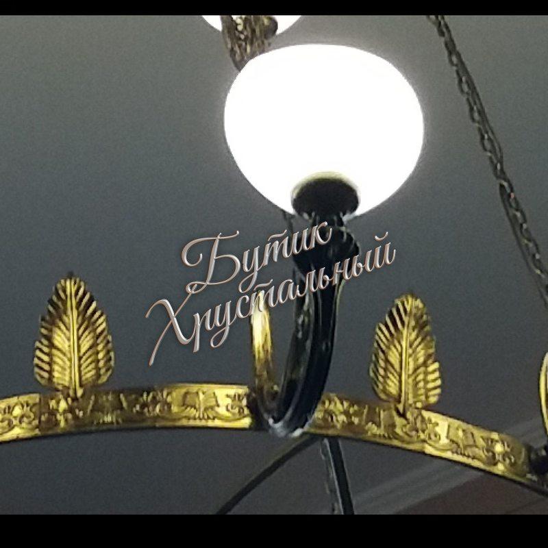 "Хрустальная люстра Свеча с плафонами ""Триумф"""