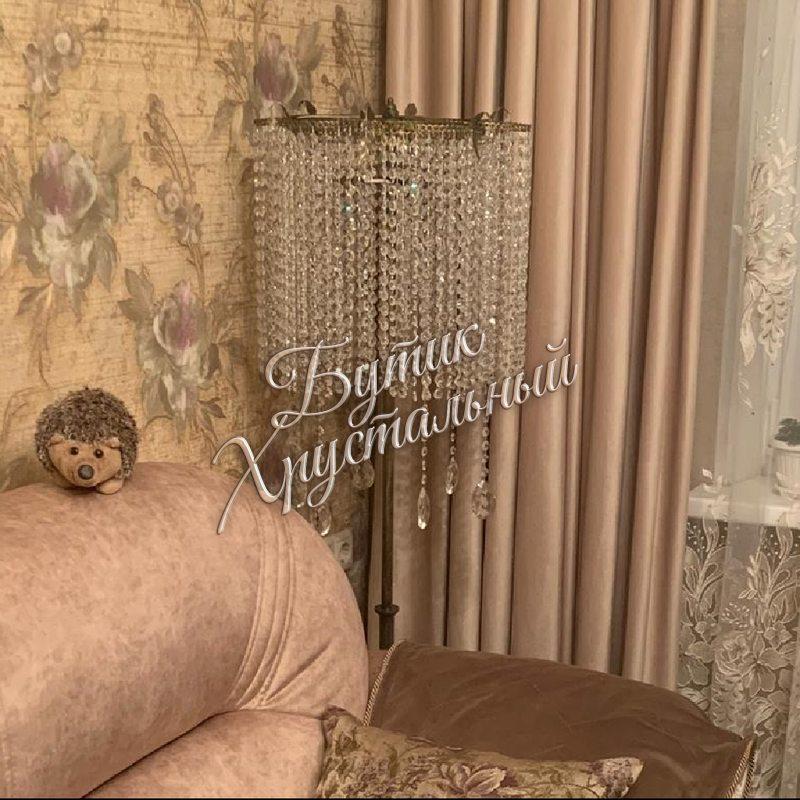 Хрустальный напольный «Торшер Ромашка» Фото в интерьере 2