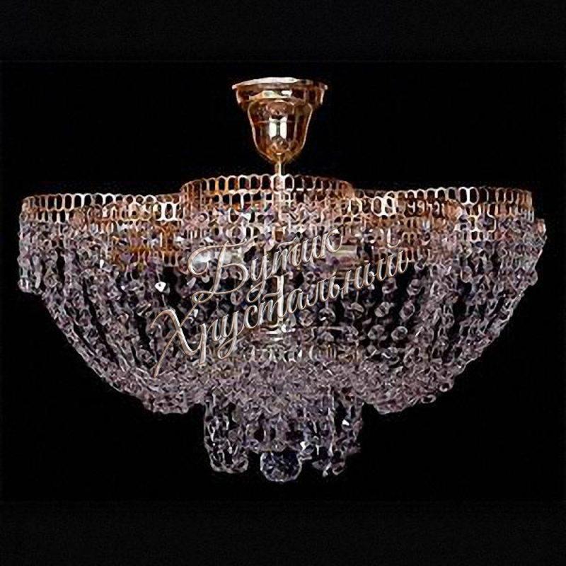 Хрустальная подвесная люстра Лотос Пион 5 ламп с подвесом