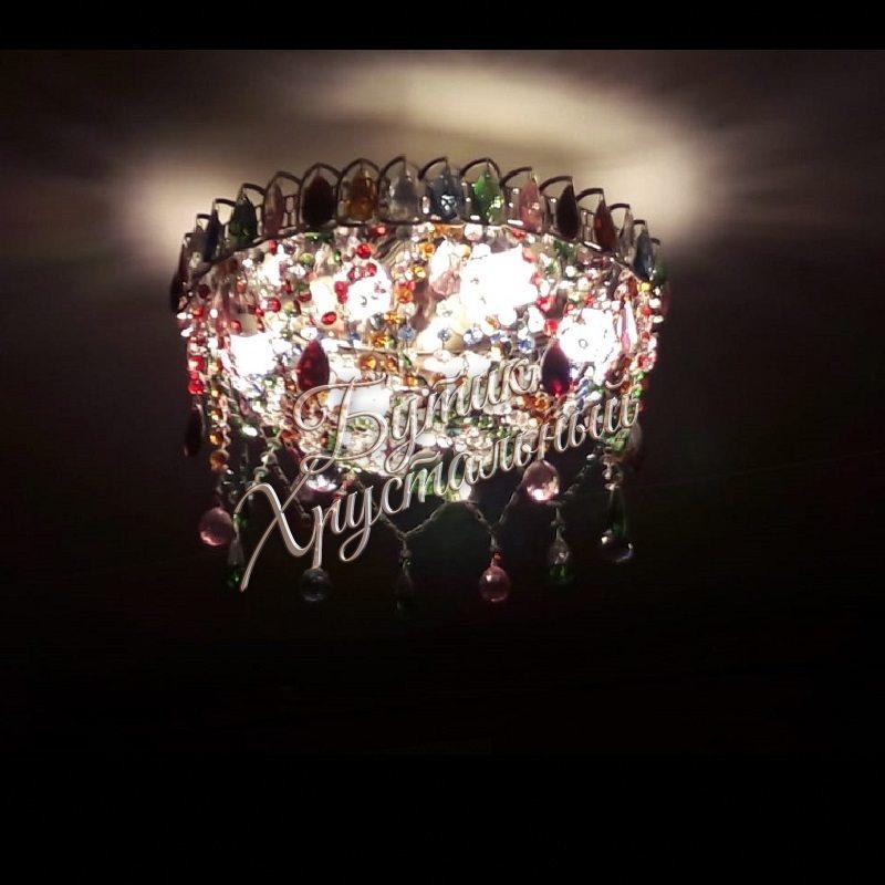 """Новогодняя люстра """"Салют Разноцветная"""""""
