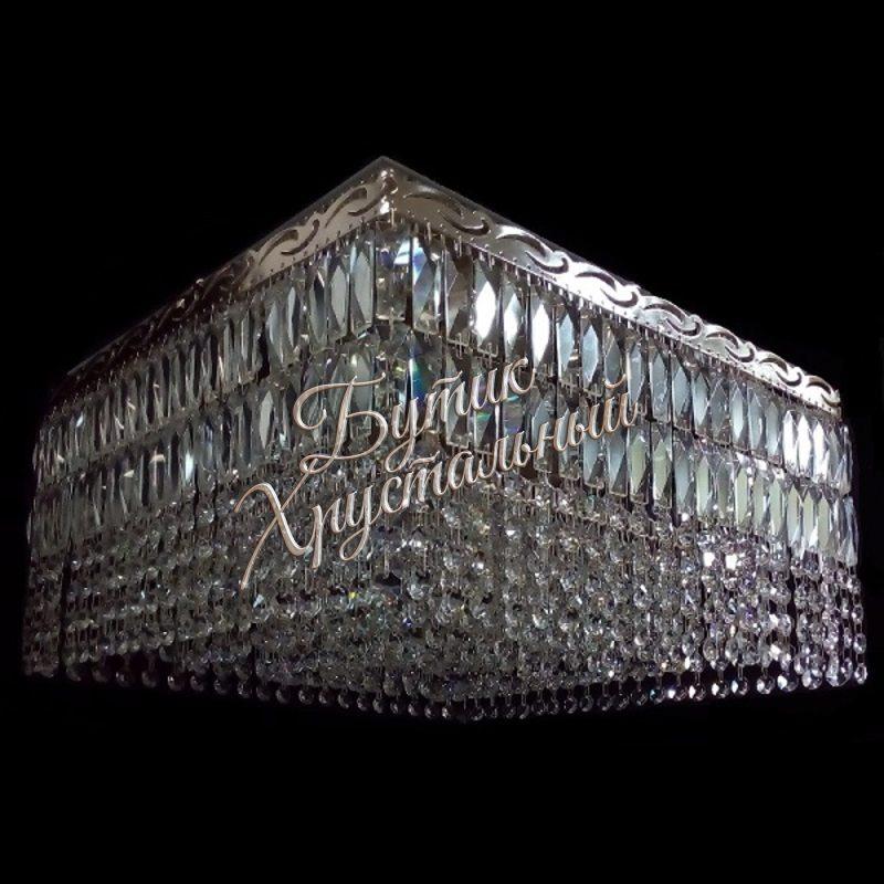 Хрустальная потолочная люстра «Квадрат Гамма Пластинка-2»