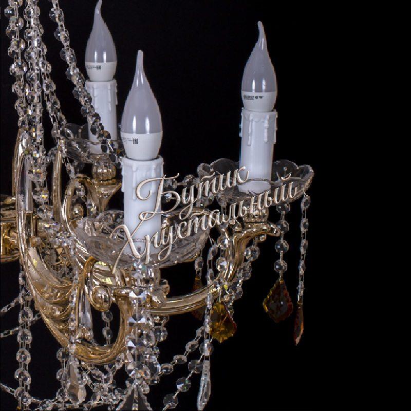 Хрустальная подвесная люстра Свеча Лайт №1 Диаметр - 650мм