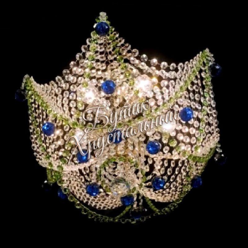 Хрустальная подвесная люстра Моника 5 ламп №2 Шар