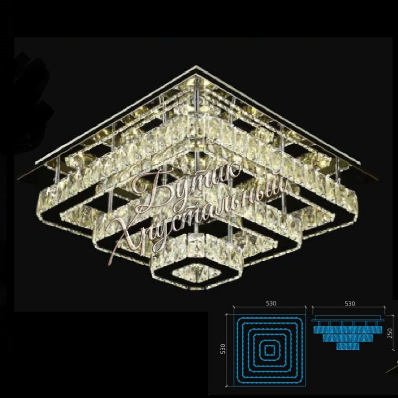 Светодиодная потолочная, с кристаллами LED 2200004 люстра