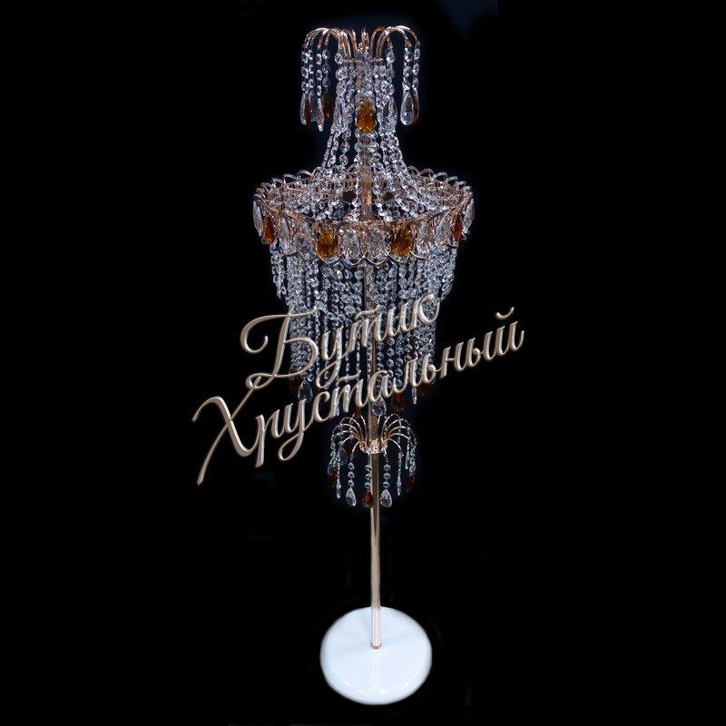Хрустальный напольный  торшер «Катерина №1 Цветная»