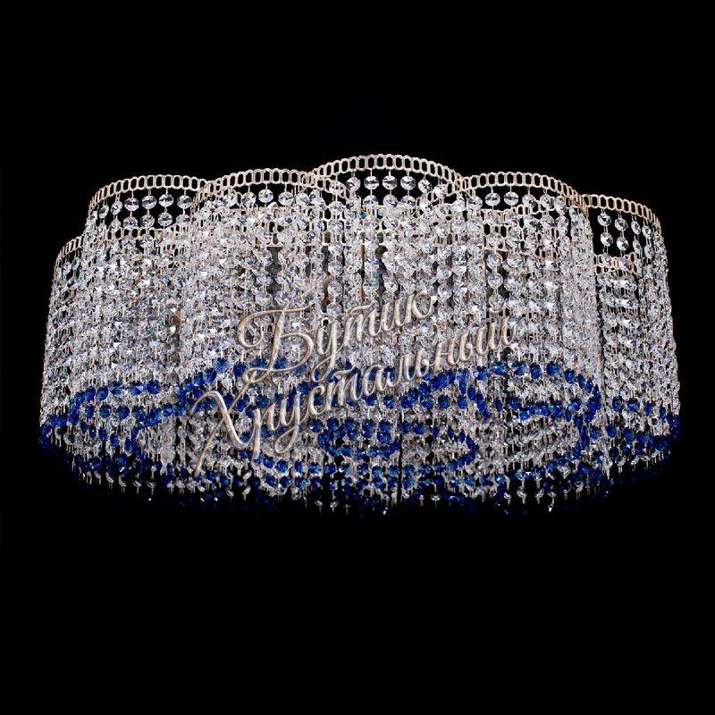 Хрустальная потолочная люстра «Овал Принц»