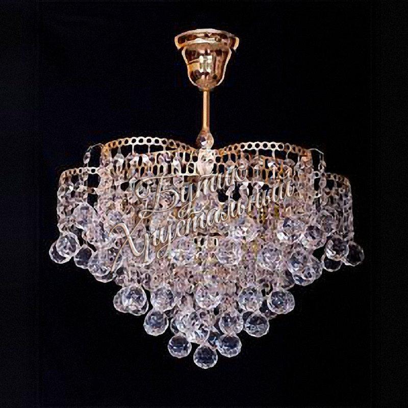 Хрустальная подвесная люстра Мимоза 1 лампа с подвесом