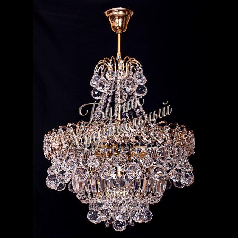 Хрустальная подвесная люстра Натали 1- 3- 5 ламп Шар с подвесом