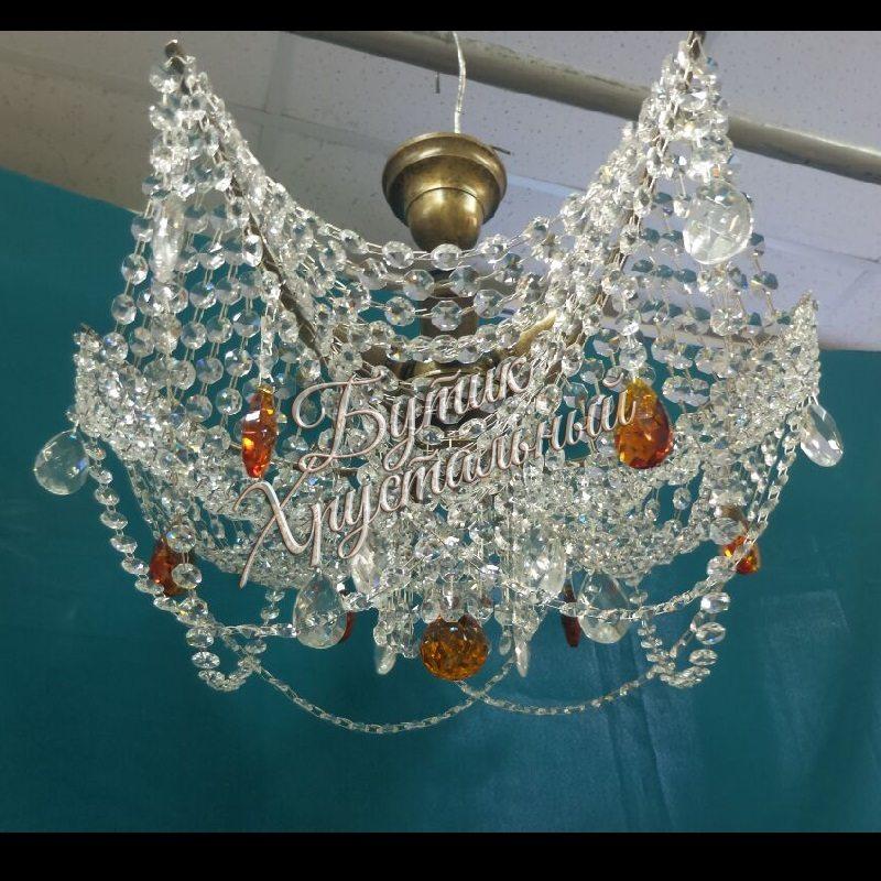 Хрустальная подвесная люстра Моника № 2 Баден 5 ламп