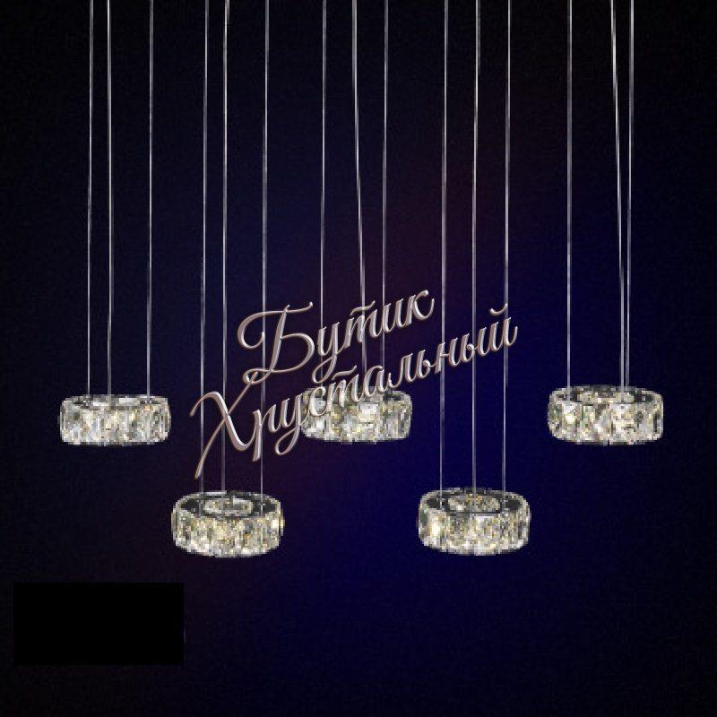 Светодиодная подвесная с кристаллами LED 2200013 люстра