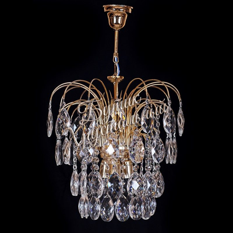 Хрустальная подвесная люстра «Каскад 3 лампы Баден-3,0»